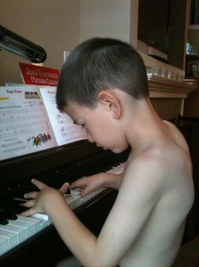 When he was curious in playing & writing his own songs